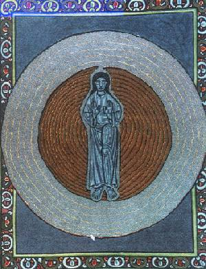 Artwork of St. Hildegard von Bingen