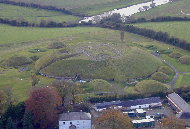 Knowth aerial view with the River Boyne in the background