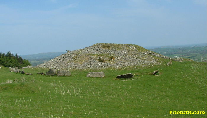 Side view of Cairn L, Loughcrew, Co. Meath.