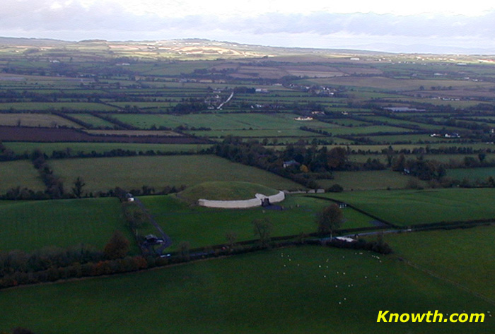 Newgrange photographed from a helicopter