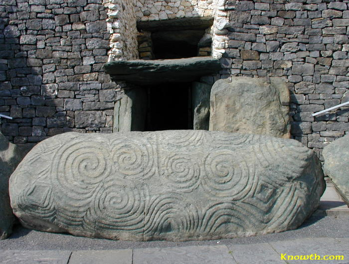 Newgrange Entrance Stone and Roof Box
