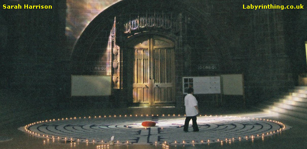 Chartres Labyrinth replica at the Anglican Cathedral Liverpool