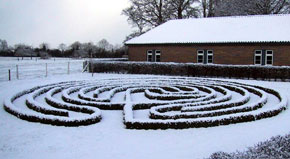 Snow covered Labyrinth