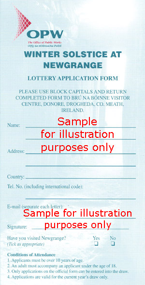 Newgrange Lottery Application
