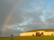 Rainbow at Newgrange, winter solstice 2002 - Background Wallpaper