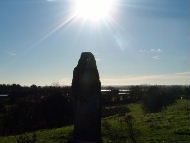 Baltray Standing Stone in the November noon sun