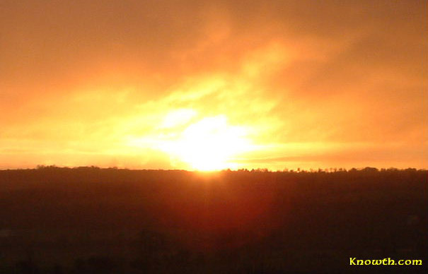 Winter Solstice sunrise at Newgrange, Co. Meath Ireland, in 2003